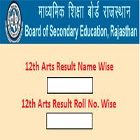 RBSE 12th Arts Result 12 Arts Result