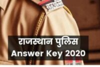 Rajasthan Police Official Answer Key 2020