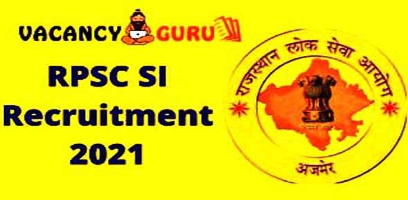 RPSC Sub Inspector SI Recruitment 2021 & Syllabus